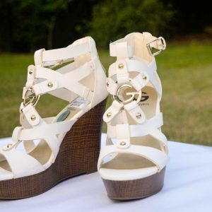 White wedge Shoes USA imported quality