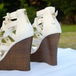 White wedge Shoes USA imported quality in Pakistan at Dua collection