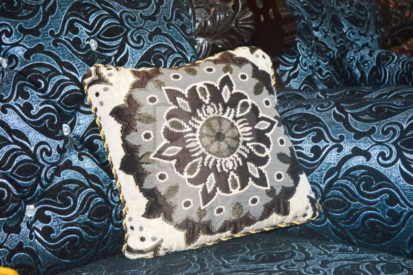 Pack of 5 Home Decor Cushions With Inset, Sofa Cushions, Sitting Cushions dua collection