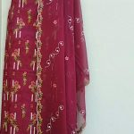 embroidered lawan dress