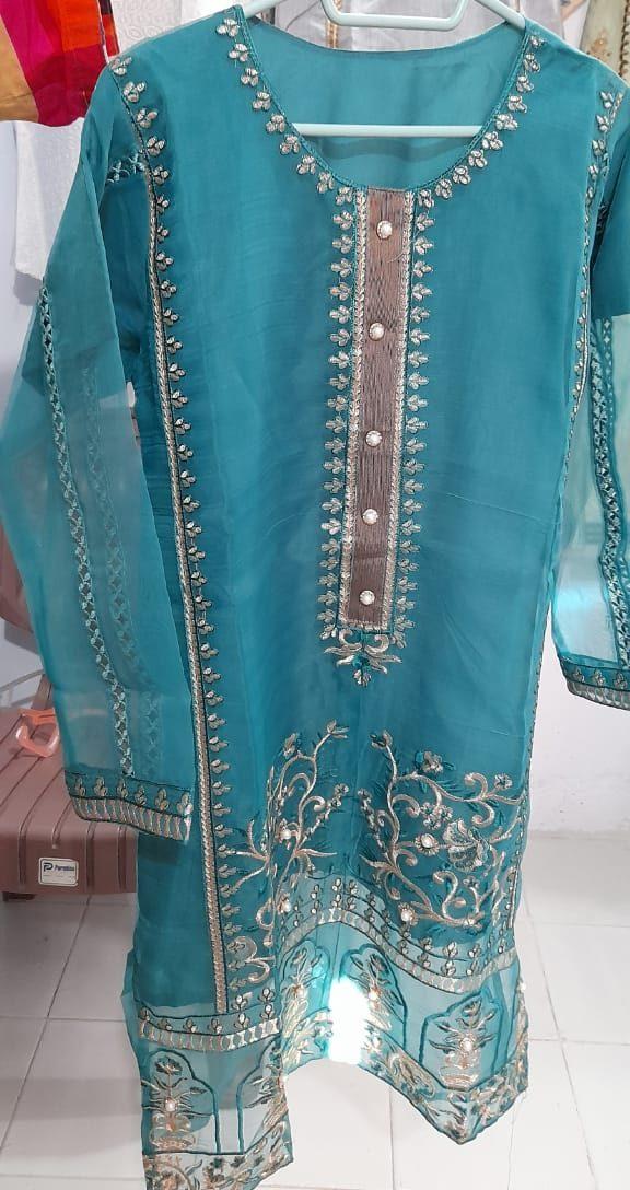 Organza kuti tilla work at Dua Collection