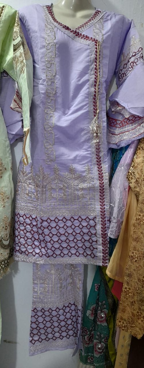 lan cotton embroiedered suit